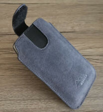 ASSEM HTC Desire 12s echt leder Handy Gürtel Tasche Hülle Etui case cover