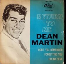 DEAN MARTIN,Return to meUK EP Capitol.See other D.Martin items