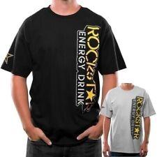 Rockstar Energy Drink MX Rocker Tee SHirt T Short Sleeve Black Medium