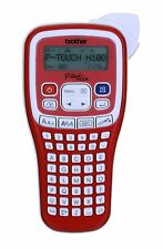 Brother PTH100R Handheld Labelling Machine Red Cutter LCD Screen 12mm Tape