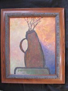 LISTED ARTIST RARE ABSTRACT STILL LIFE painting Dr. BENJAMIN L. Gross FRAMED