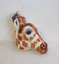 Slavic Treasures Ornament Giraffe Head Hand Blown Glass Poland New In Box S1 13