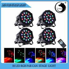4X Bühne Licht 54W RGB 18 LED DJ Par CAN DMX Remote Show Disco Party Club Lampe