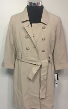 5ff545ca907 Larry Levine Women`s 3 4 Sleeve Trench Coat Size 8