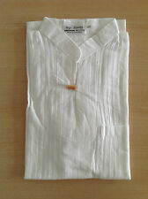 CHEMISE COL MAO BLANC 100 % COTON manch courte bouton marin Homme shirt Cambodge