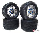 Aluminum Wheels+Tires Fit E T-maxx Tmaxx 1.5/2.1/2.5/3.3, HPI Savage 21/2.5 Revo