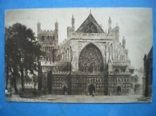 POSTCARD DEVON EXETER CATHEDRAL WEST FRONT