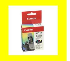 ORIG. CARTUCCIA CANON bci-21 color bjc-4100 4200 4550 Multi pass c75 c80 118c061