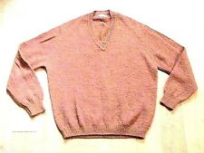 RODIER FRENCH 1960s MEN MOD PULLOVER SWEATER~ FLECK WOOL KNIT ~UNUSED VINTAGE~ L