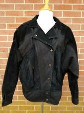 Vintage Womens Leather Fashion G-III Leather Bomber Jacket Black Size L