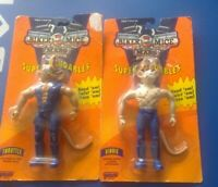 Vintage Biker Mice from Mars Super Bendables Vinnie and Throttle Box Damaged