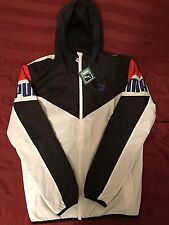 570417 02 Football Windbreaker White TL30442 Men's Puma Jacket SZ M Hooded