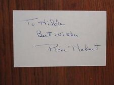 """ROSE  HOBART(Died-2000)(""""East of Borneo""""/""""Peyton Place"""") Signed 3 x 5 Index Card"""