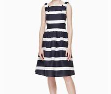 KATE SPADE Chesapeake Stripe Midi Dress Navy/White