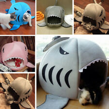 Shark Pet Cat Dog Bed House Puppy Warm Kennel Cave Nest Mat Pad Cushion Washable