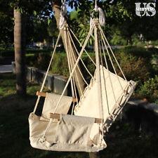 Leisure Swing Canvas Hammock Hanging Outdoor Chair Garden Patio Yard 330Lbs Max