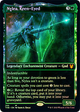 1X NM Foil Nylea, Keen-Eyed Showcase Theros Beyond Death Magic the Gathering