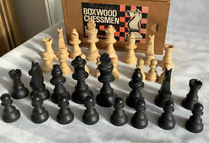 Complete set  wooden Chess Pieces , Staunton Pattern  King 6.5 cm tall