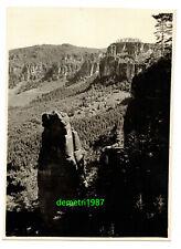 Foto Bergsteiger Kletterer Sächsische Schweiz Wolfsturm 1930er !