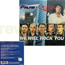 "FIVE + QUEEN ""WE WILL ROCK YOU"" RARE CDsingle CARDSLEEVE - SEALED"