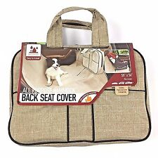 New Car Truck Back Seat HAMMOCK COVER PET Kids SPORT Travel BAG WATERPROOF Beige