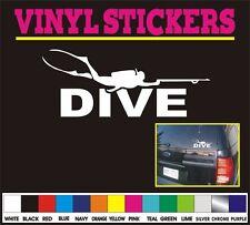 "8"" DIVE Scuba Diver Sport Diving cartoon window truck boat vinyl sticker decal"