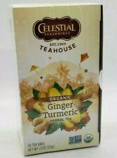 Celestial Seasonings Teahouse Organic Ginger Turmeric Tea, 20 Count Box