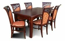 Dining Table+6 Chairs Room Set Area Gruppentisch Table New Z29
