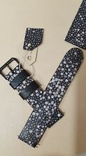 22 mm HAND MADE GENUINE LEATHER EXOTIC Stingray pattern cow hide watch band
