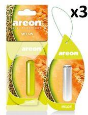 3 x Areon Liquid 5ml. Melon Car Aroma Perfume Tree Air Freshener Fragrance Scent