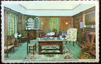 1940's Postcard Colonial Room US National Museum Smithonian Institution