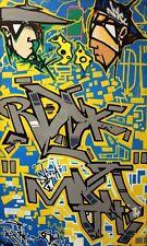 MOZE 156 - graffiti signé sur toile  - cope2/seen/taki/quik/crash/rd357/stayhigh