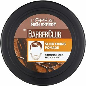 Loreal Men Expert Barber Club Slick Fixing Hair Pomade Strong Hold 75ml