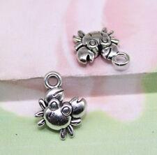 wholesale:25/100pcs Retro Style Tibet silver alloy A small crab charm pendant