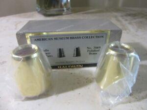 Baldwin Brass Candle follower pair. NEW 7069