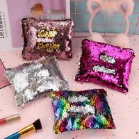Fashion Women Party Clutch Handbags Glitter Sequin Cosmetic Bag Travel Organizer