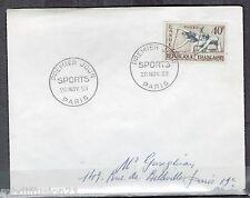 1953//LETTRE.FDC 1°JOUR//JEUX OLYMPIQUES D'HELSINKI-CANOE//Y/T.963