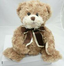 Bukowski ours fourrure beige avec noeud satin 28cm environ assis