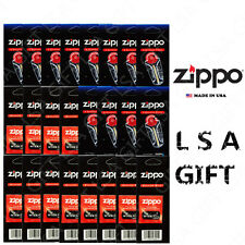 Zippo Lighter Flint & Wick Pack of 24 Value Packs (72x Flints and 12x Wicks)