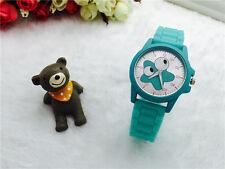 NEW Women's Fashion Silicone Simulation Wrist Watches Quartz  Bear Watch Green