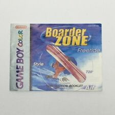 Boarder Zone Freeride Nintendo Game Boy Gameboy Color Manual Only No Game