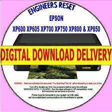 EPSON XP600 XP605 XP700 XP750 XP800/850 WASTE INK COUNTER RESET DIGITAL DOWNLOAD