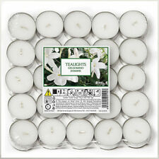 50 Price's Italian Aladino White Jasmine Tealight Tealights Tea Light Candles