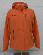 Columbia Titanium Fully Insulated Orange Hooded Jacket Women's Large EXCELLENT