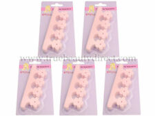 6 PACKS OF 2 CITY CHICK FUNKY TOE SEPARATORS PINK FLOWERS PERFECTLY PAINTED TOES