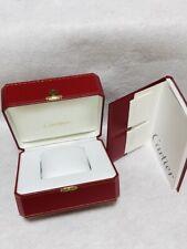 Cartier Watch Box Empty Red Presentation Case Blank Warranty Manual Authentic