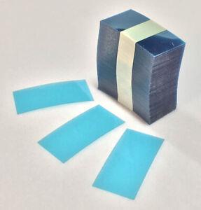 "1500pk - 1.5"" x 1.22"" Retail Blue Transparent Plastic Shelf Strips Liquor Pawn"