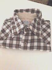 Guess Jeans Shirt, Brown Plaid, Long Sleeve Size Lg