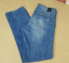 HUGO BOSS scout 1 Jean Homme Taille 34 Jambe 34 Bouton Fly Lumière dirstressed 👖