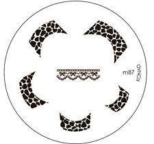Original Konad Stamping Schablone M87 für Nailart und Nageldesign
